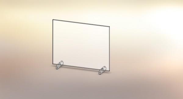 Individuelle Spuckschutzwand aus PETG (wie Acryl) für Tresen, etc.